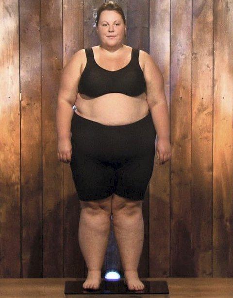 Den nakne sannhet: Madelen Haugen (22) ved seriestart veide 144, 3 kilo.foto: tvNorge