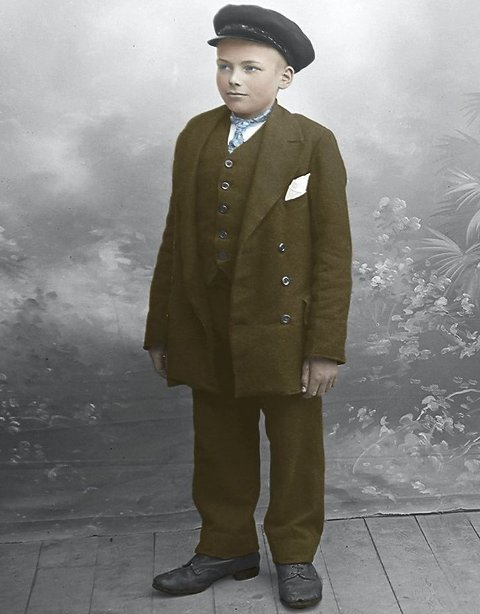 Jens Mathias Arentsen var konfirmant i Gildeskål i 1918.