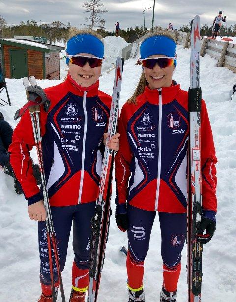 Ragna Fodstad og Hanna Leche Fodstad ble henholdsvis nummer en og tre i J15.