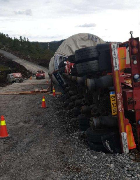 REAGERER: Regionlederen i Norges Lastebileierforbund har meldt inn Tonstad vindpark til Arbeidstilsynet.