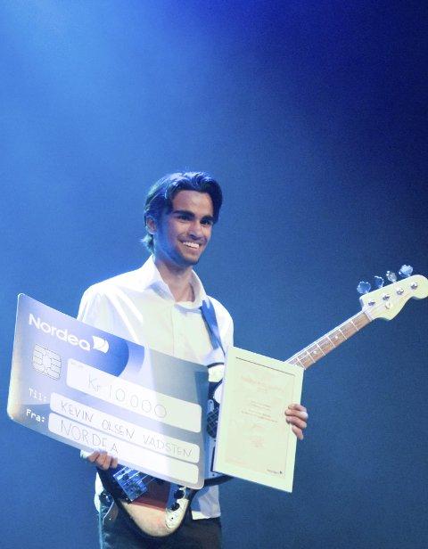 10.000: Kulturskoleprisen er på 10.000 kroner. Kevin Olsen Vadsten fikk også penger til kulturskolen sin.