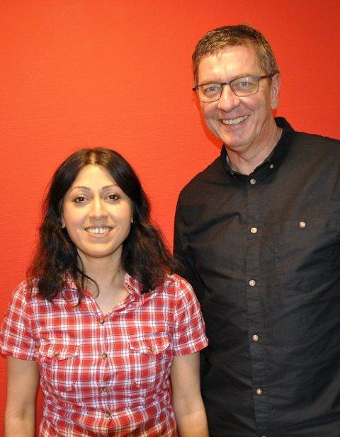 LO-TOPPER: Fauzia Hussain-Wiik og Jorge Dahl er blitt leder i henholdsvis LO i Bergen og land og i Unionen fagforening.  Nå vil de kjempe for rødgrønn seier til valget. FOTO: DAG BJØRNDAL