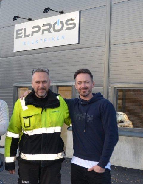 Brødrene Jan Inge Haug (venstre) og Roger Haug har drevet Elpros siden 2013.