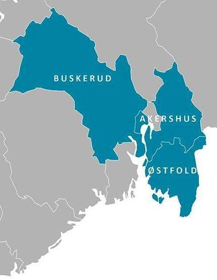 Stort: Østfold, Akershus og Buskerud.