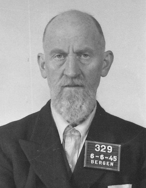 DØMT: Bjarne Steffensen, NRK Bergen, fikk en dom på fem års tvangsarbeid for landssvik av Bergen byrett i mai 1946.