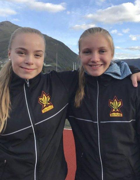 JENTENE SOM DELTAR: Kaja Bjørgan og Helene Winnem Johnsen, Narvik IL.