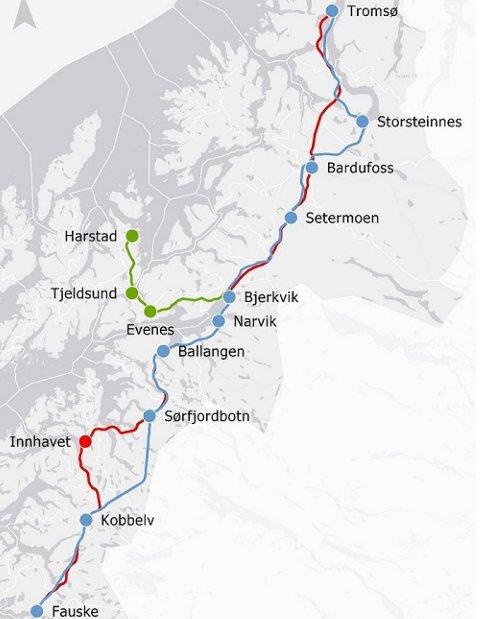 Nord-Norgebanen utredes for fullt. Reisetiden kan bli så redusert at det kan medføre at passasjerer velger tog før fly.