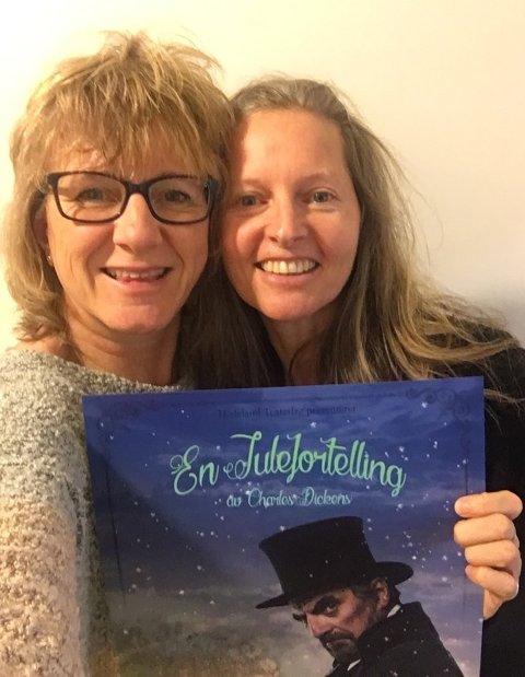 AKTIVT TEAM: Inspisient Kristin Friborg (til v) og regissør Cynthia Kai gleder seg over nok en gang å kunne bringe «A Christmas Carol» til hadelendingene.