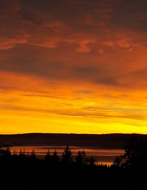 """""""Vakkert oppi Fælingbygda i dag"""", skriver fotografen. Vanskelig å være uenig!"""