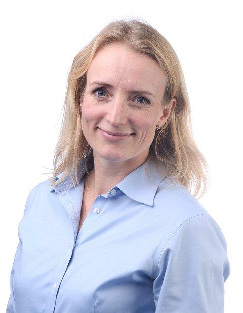 INFORMERER: Ragnhild Ask Connell forteller om mange strømbrudd i Kongsberg lørdag.