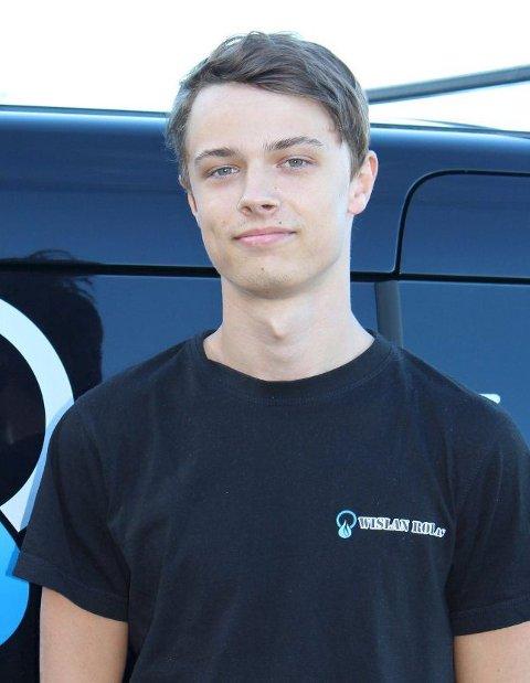 I FINALEN: Jonas Bjerke Aarhus (20) skal delta i rørlegger-NM i oktober.