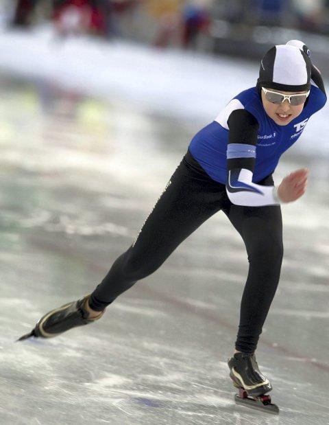 Til topps: Herman Hoff gikk fort på isen.