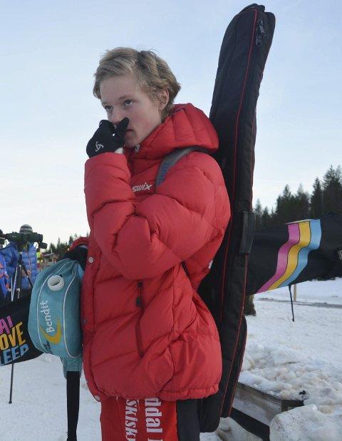 Betenkt: Sander Steinmoen var ikke fornøyd med helgens Østlandsmesterskap.