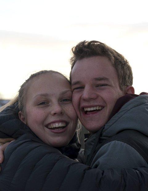 Klem: Andrine Westad (t.v.) og Eyvind Sofienlund. Foto: Johannes Skjæveland Eide