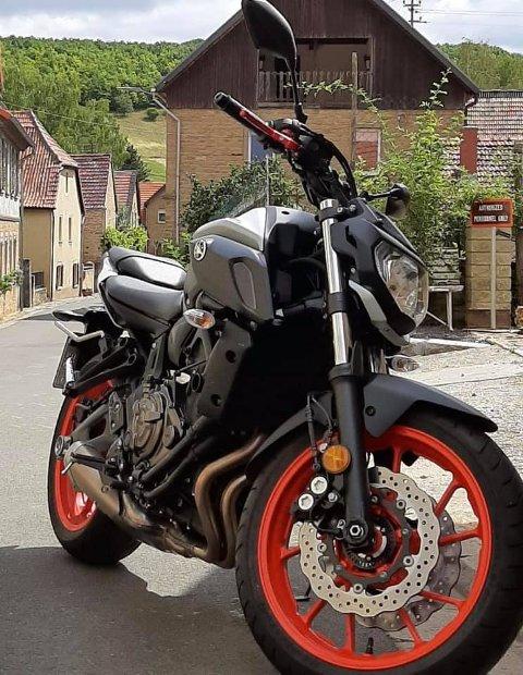 SYKKEL: Motorsykkelen av typen Yamaha MT-07 ble stjålet fra Skavanger en gang natt til tirsdag.