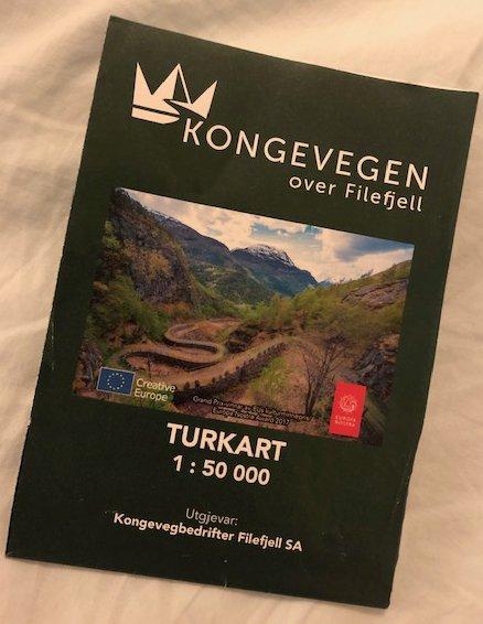 KARTET: Slik ser det ut, det nye Kongevegen Turkart.