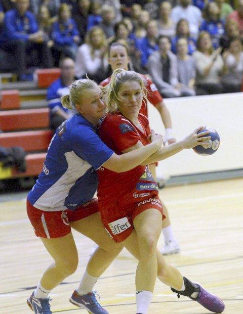 HAR TRENT HARDT: Godt treningsarbeid i februar gjorde at Cecilie Mørch Hansen lyktes til fulle i gårsdagens knepne seier. Foto: Ole John Hostvedt,  Laagendalsposten.