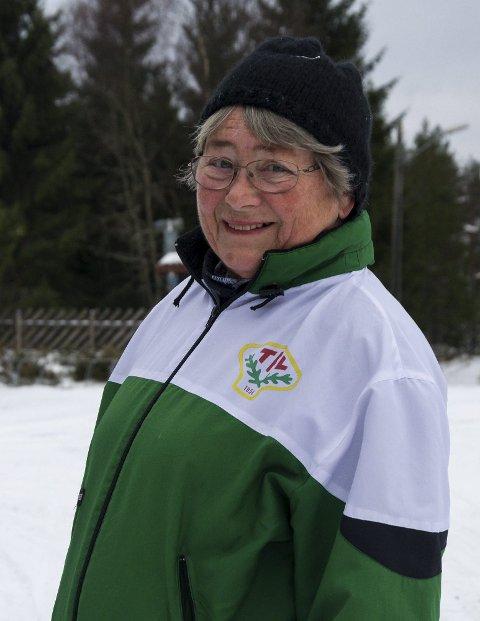 Førstemann: Aud Aasebøh var førstemann som ankom Ertehytta søndag formiddag.