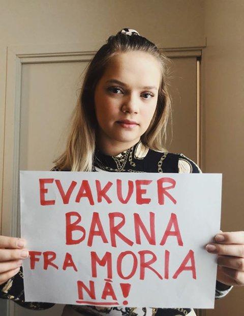 EVAKUER: Aleksandra Seljeseth fikk støtte i kommunestyret for forslaget om hjelp til flyktninger fra Morialeiren i Hellas.