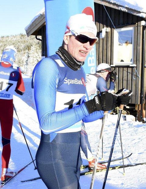 SØLV: Kristoffer Berset gikk inn til sølv på stafetten under junior-NM i Steinkjer søndag.
