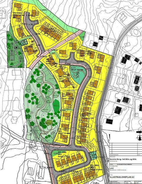 NORDRE BERG: De to nye veiene her har nå fått navn.