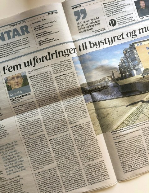 Faximile: Moss Avis kronikk den 19. mars.