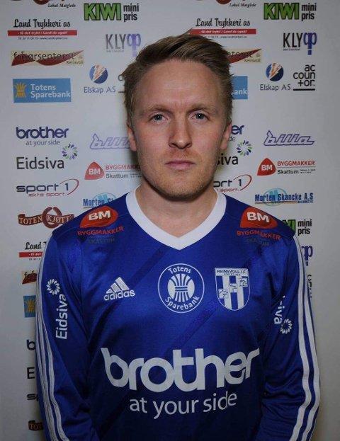 Alexander Hjelmtvedt skåret begge målene for Reinsvoll da de tapte 2-4 mot Vardal.