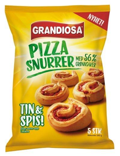 SUNNERE PIZZASNURRER: Grandiosa kommer nå med vegetar-pizzasnurrer.
