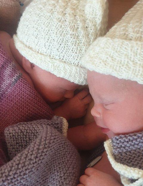 Tvillingjentene Alva og Ellinor ble årets nyttårsbarn på sykehuset i Lillehammer.