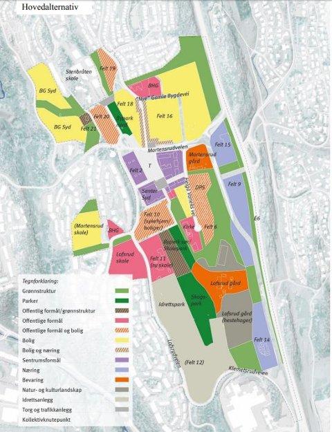Skissen viser hovedgrep i Planprogrammet. Skisse: Oslo kommune
