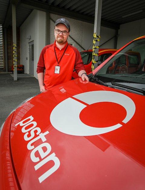 ENDRINGSKLAR: Distribusjonsleder Andreas Kynsveen i Posten Norge i Vika, forteller at budene får større ruter, men er godt forberedt.