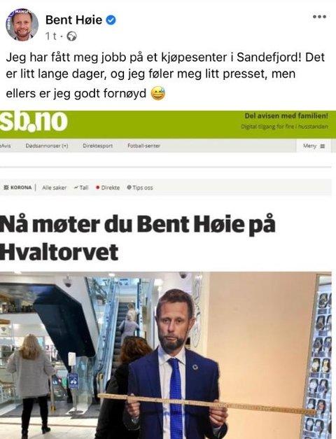 LANGE DAGER: Det blir litt lange dager for helseminister Bent Høie etter at han dukket opp på Hvaltorvet.