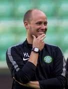 Likte det han så: Haakon Lunov satt på tribunen da Fram banket Bærum 6-1 på Sandvika stadion fredag kveld. Bildet er tatt da han var assistenttrener for Ronny Deila i Celtic.