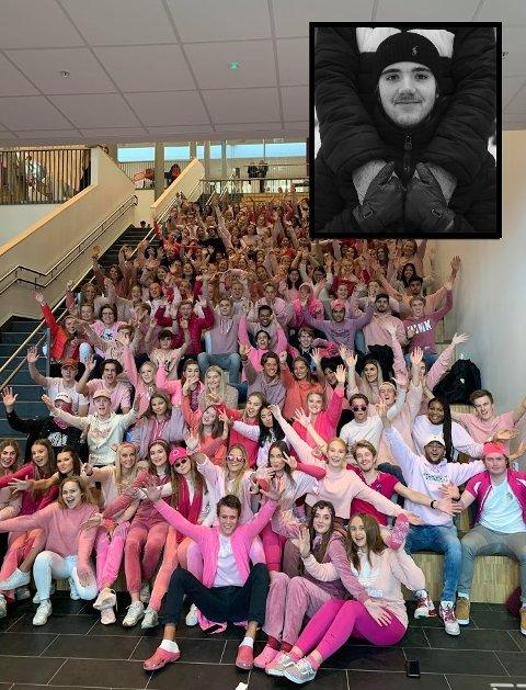 TAR I ET TAK: Det er ikke bare russen ved Jessheim videregående som samler inn penger til Kreftforeningen mandag. I år tar alle skolens elever i et krafttak mot kreft.
