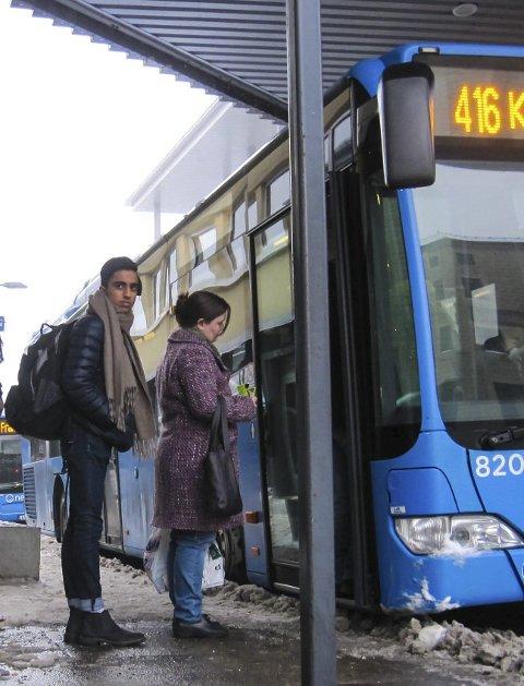 Utilgjengelig: Bussen går sjeldnere.