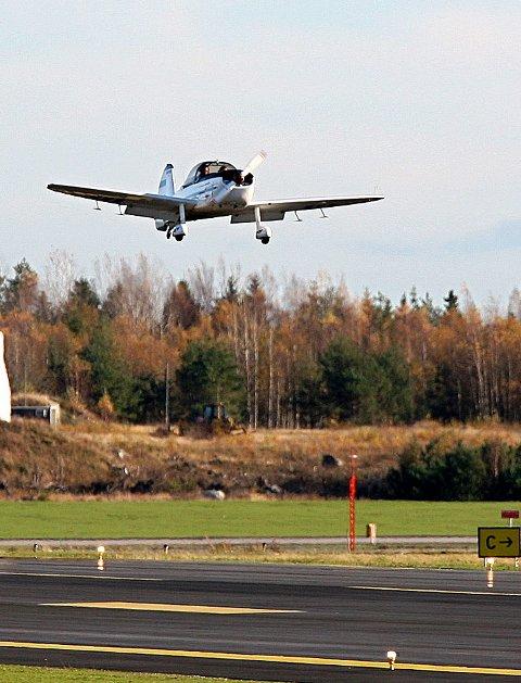 Støykilde: Småfly på Rygge flyplass.