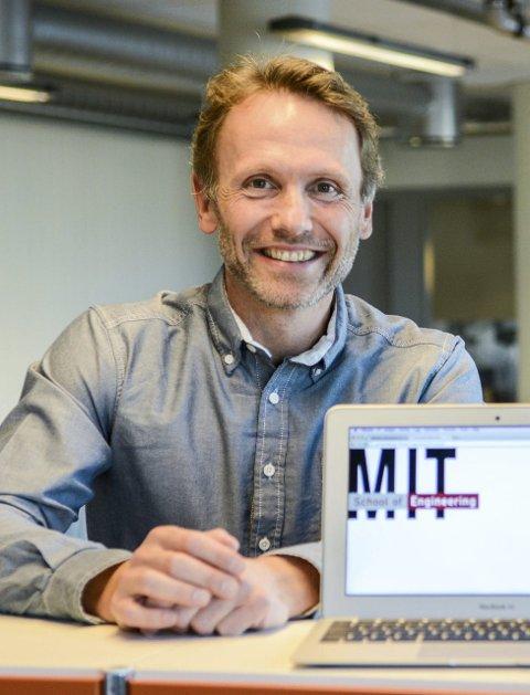 Engasjert: Eskil Domben, daglig leder Campus Larvik, er klar for å skape et givende læringsmiljø i byen. Foto: Torgrim Skogheim