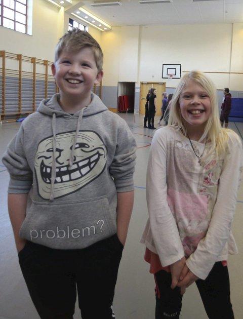 GLER SEG: Eirik Sagevik Klokk og Kristin Larsen Svånå.