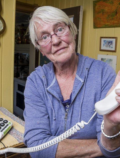 Anne Marie hadde ikke hatt telefonforbindelse siden uværet 11. august før i dag, torsdag. Da dukket summetonen opp igjen.