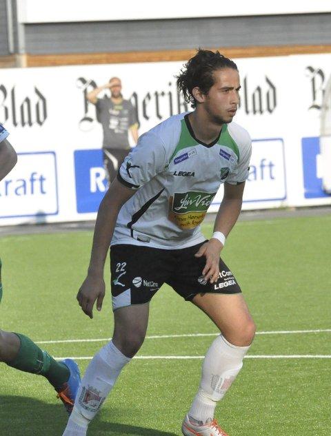 SCORET: Durim Muqkurtaj scoret sitt første offisielle mål for Hønefoss BK.
