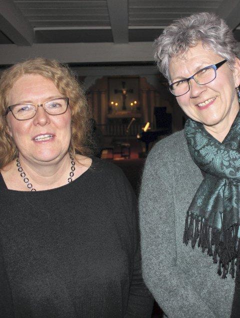 Stemning: Eva Aurdal og Bodil Krogh var begeistret for kvaliteten Mørk og Gimse brakte til kirken.