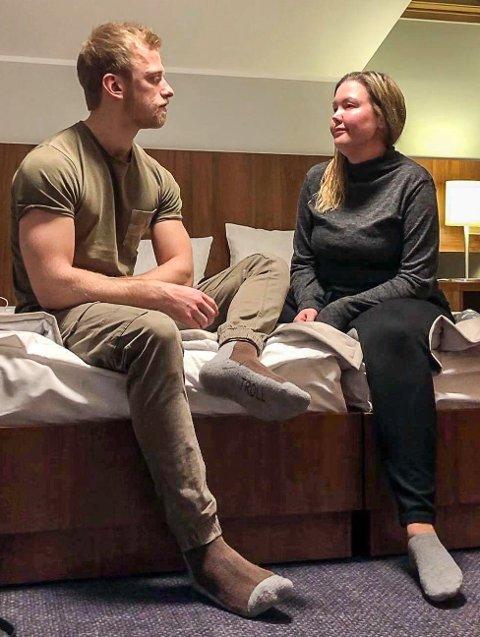 KORONA-FAST: Monika Stanes og Christoffer Granstrøm sitter for øyeblikket i Krakow i Polen og vet ikke hvordan de skal komme seg hjem.