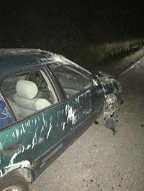 Bilen blr påført store skader.