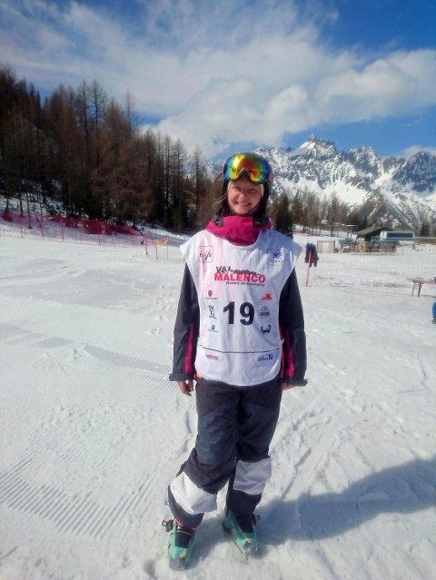 Nora Lødøen står med en 5.-plass og en sølvmedalje etter to dagers kjøring i kulene i Italia!