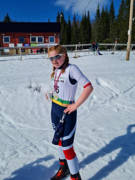 I GODVÆRET: Karoline Sagnes Jørgensen