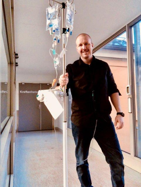 Hver uke er kreftpasient Lars Jostein Silihagen  på sykehuset i Lillehammer for å få cellegiftkur.