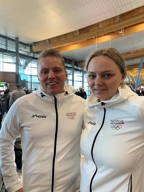 NESTEN: Simon Kolstad Claussen og Jenny Stene skjøt seg til hederlige resultater i European Games. FOTO: PRIVAT