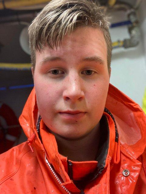 Martin Kristoffersen (16) fra Leknes fikk en pukkellaks i størrelsen XXL.