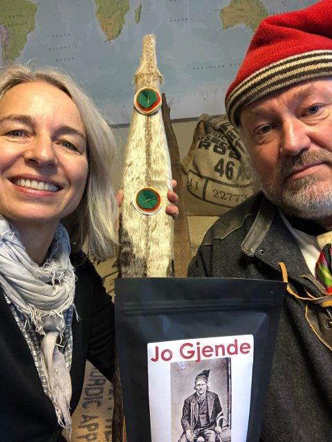 Sidsel Madshus og Ole Kristian Ødegård lanserer ny kaffe.