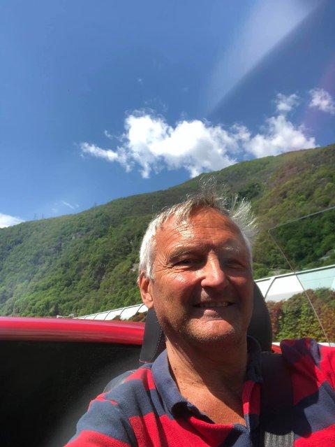 PÅ VEI: Bjørn Rognstad er på vei tilbake til Gjøvik fra Toscana, i en Alfa Romeo.